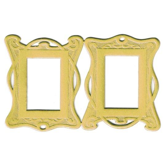Gold Art Nouveau Dresden Foil Frames ~ 2