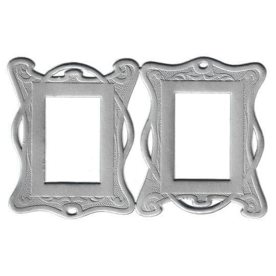 Silver Art Nouveau Dresden Foil Frames ~ 2