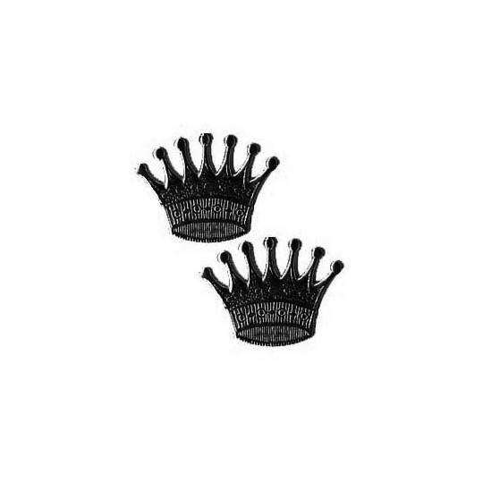 Black Dresden Foil Crowns ~ 10