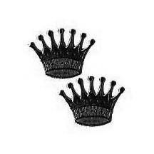 Black Dresden Foil Crowns ~ 10