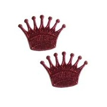 Burgundy Dresden Foil Crowns ~ 10