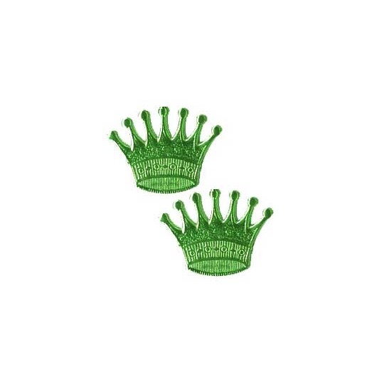 Green Dresden Foil Crowns ~ 10