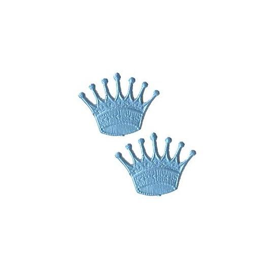 Light Blue Dresden Foil Crowns ~ 10