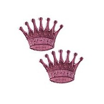 Pink Dresden Foil Crowns ~ 10