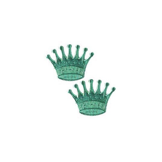 Aqua Dresden Foil Crowns ~ 10