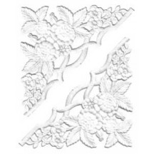 Extra Fancy White Paper Dresden Corners with Roses and Flowers ~ 4