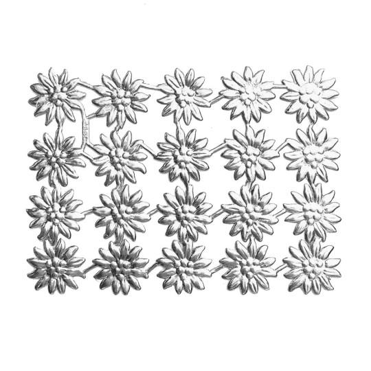 Silver Dresden Foil Edelweiss Flowers ~ 20