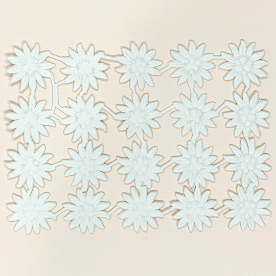White Dresden Paper Edelweiss Flowers ~ 20
