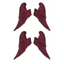 Burgundy Dresden Half Wings ~ 12