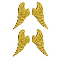 Gold Dresden Half Wings ~ 12