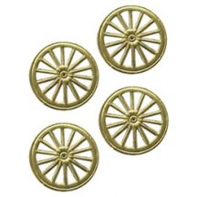Gold Dresden Foil Wheels ~ 10