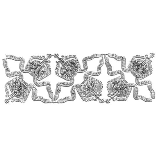 Silver Dresden Foil Diadem Tiaras ~ 6