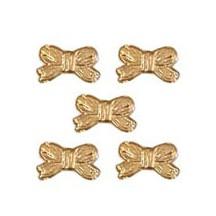 Antique Gold Dresden Foil Miniature Bows ~ 48