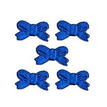 Dark Blue Dresden Foil Miniature Bows ~ 48