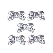 Silver Dresden Foil Miniature Bows ~ 48