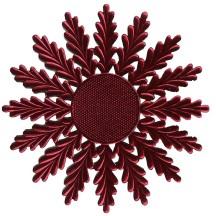 Large Burgundy Dresden Foil Medallions or Halo ~ 2