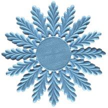 Large Light Blue Dresden Foil Medallions or Halo ~ 2