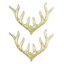Gold Dresden Foil Deer Antlers ~ 10