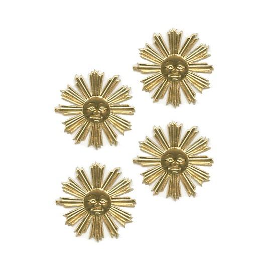 Small Gold Dresden Foil Sun Medallions ~ 20