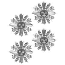 Small Silver Dresden Foil Sun Medallions ~ 10