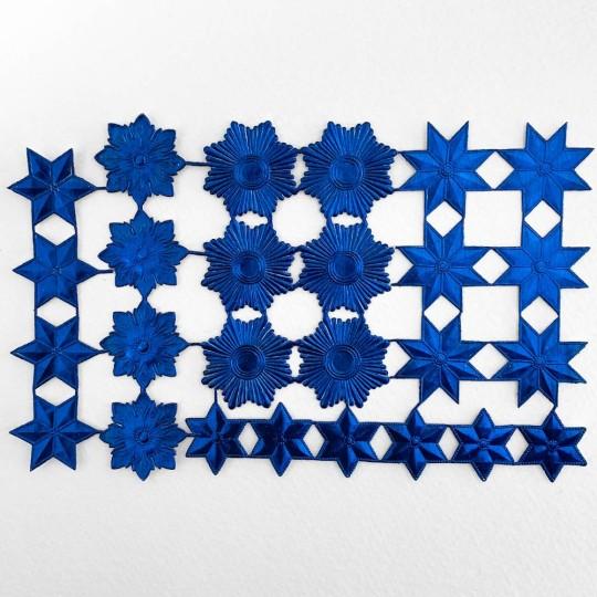 Dark Blue Dresden Foil Stars & Halos ~ 26 Assorted