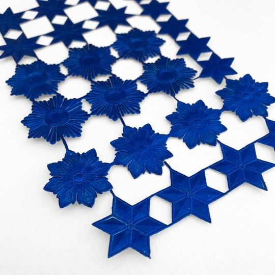 Dark Blue Dresden Foil Stars & Halos ~ 26 Assorted