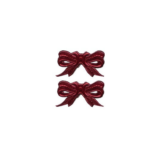 Burgundy Dresden Foil Medium Bows ~ 10