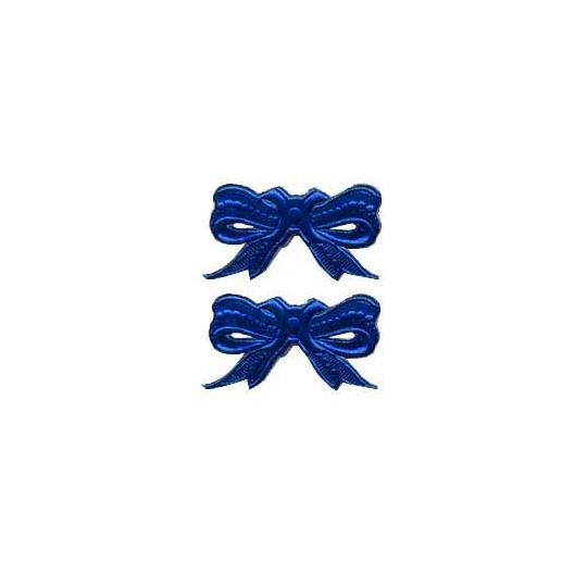 Dark Blue Dresden Foil Medium Bows ~ 10