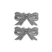 Silver Dresden Foil Medium Bows ~ 10