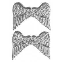 Silver Medium Dresden Angel Wings ~ 6