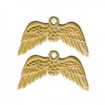 Gold Dresden Foil Wings with Hanger ~ 12