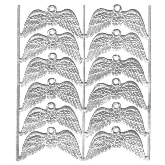 Silver Dresden Foil Wings with Hanger ~ 12