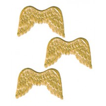 Gold Dresden Foil Wings ~ 12