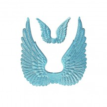 Light Blue Dresden Foil Swan Wings ~ 8