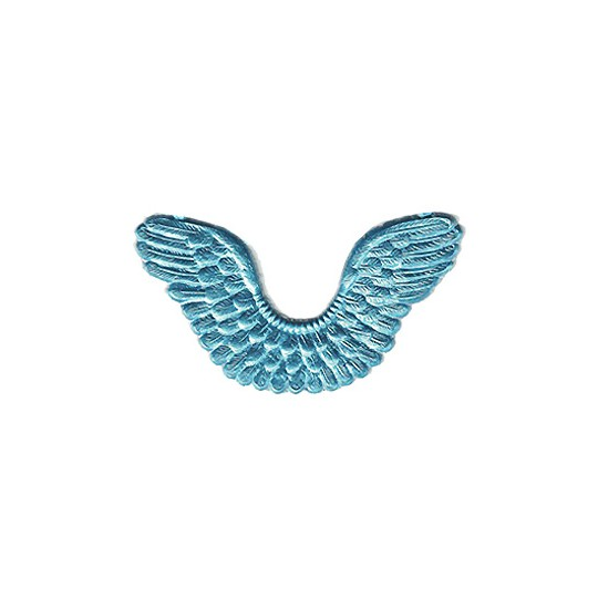 Light Blue Dresden Foil Wings ~ 7
