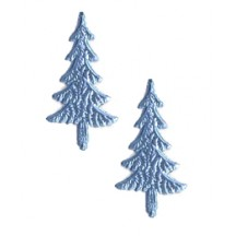 Steel Blue Dresden Foil Trees ~ 10