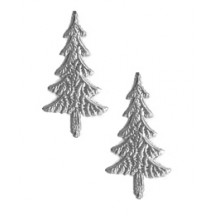 Silver Dresden Foil Trees ~ 10