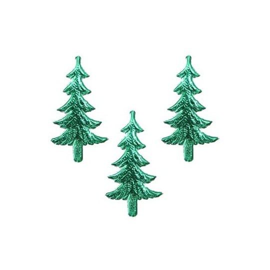 Green Dresden Foil Trees ~ 10