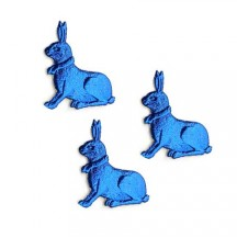 Petite Dark Blue Dresden Foil Easter Bunnies ~ 18