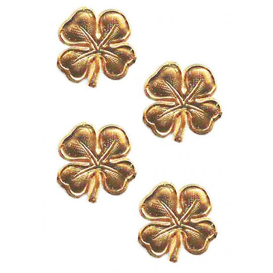 Small Antique Gold Dresden Foil Shamrocks ~ 40