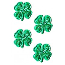 Small Green Dresden Foil Shamrocks ~ 40