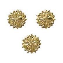 Antique Gold Dresden Foil Flowers ~ 36