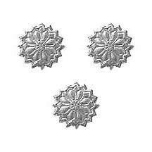 Silver Dresden Foil Flowers ~ 36