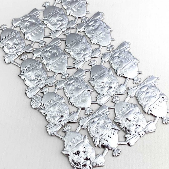 Silver Dresden Foil Party Cats ~ 16