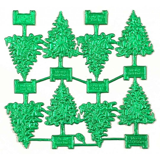 Green Dresden Foil Christmas Trees ~ 8