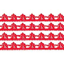 "Red Dresden Scrolled Point Trim ~ 5/16"" wide"