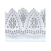 "Silver Dresden Flourish and Scallop Wide Trim ~ 1-5/8"" wide"