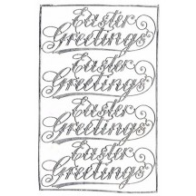 Easter Greetings Silver Dresden Scripts ~ 4