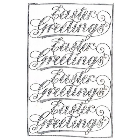 Easter Greetings Silver Dresden Scripts ~ 4