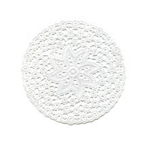 """15 Delicate White Snowflake Doilies ~ Germany ~ 4 3/8"""""""